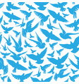 seamless pattern with blue doves vector image vector image
