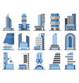 set of office buildings vector image vector image