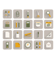 set of office stationery icons vector image vector image