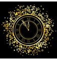 shiny New Year Clock vector image vector image
