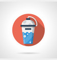 sport cocktail shaker flat round icon vector image