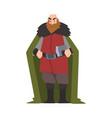 strong viking male scandinavian warrior character vector image vector image