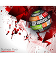 Success in Business conceptual background with a vector image