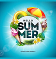 summer holiday with flower and vector image vector image