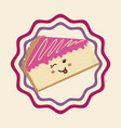 sweet dessert cartoon vector image vector image