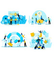 teamwork business people cooperation for success vector image vector image