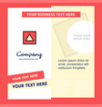 traingle shape company brochure template busienss vector image