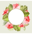 Tropical flower frame vector image vector image