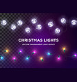 vintage christmas lights set multi vector image