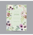 Vintage Floral Frame - for Invitation Wedding vector image