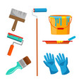 wall painting items accessories set roll vector image