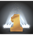 Winner Number One With Backlight Illumination vector image vector image