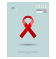 world aids day concept poster vector image