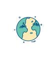 world globe icon design vector image vector image