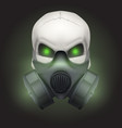Human skull with Respirator mask vector image