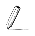 Pencil fast doodle vector image