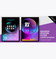 music covers for summer electronic fest or party vector image