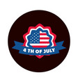 4th july independence day american flag badge vector image vector image