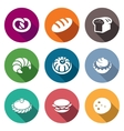 Bakery and fast food Icons Set vector image vector image
