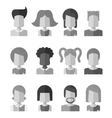 Black and white flat design people icon social vector image vector image