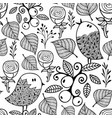 black and white seamless pattern with doodle vector image vector image