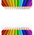 blank paper template with color pencils on top vector image vector image