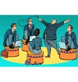 Boss businessmen trainer at the circus vector image vector image