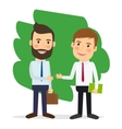 Businessmen shaking hands vector image vector image