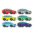 car different colors vector image vector image
