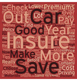 Car Insurance Top Tips text background wordcloud vector image vector image