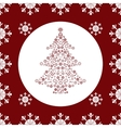Christmas tree snowflakes seamless pattern vector image vector image