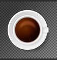 close up of coffee cup vector image