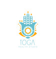 Colorful creative yoga hamsa logo