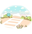 Cute Zebra Crossing vector image
