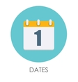 Dates Flat Icon vector image vector image