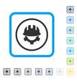 development helmet framed icon vector image vector image