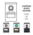diamond on a pedestal icon in cartoon style vector image vector image
