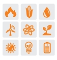 ecology energy icon vector image vector image