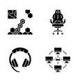 esports glyph icons set vector image vector image