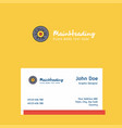 eye ball logo design with business card template vector image vector image