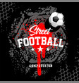football banner design template vector image vector image