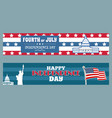 fourth of july independence day patriotic posters vector image vector image