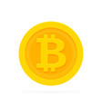 golden bitcoin icon for cryptocurrency virtual vector image