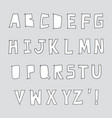 hand drawn alphabet on grey background vector image