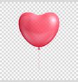 heart balloon realistic vector image vector image
