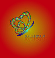 Heart Butterfly Logo vector image vector image