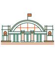 hua lamphong train station linecolor vector image vector image