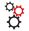 icons mechanical gears vector image