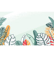 jungle plant with tropical vector image vector image