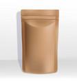 kraft paper zipper pouch or sachet vector image vector image